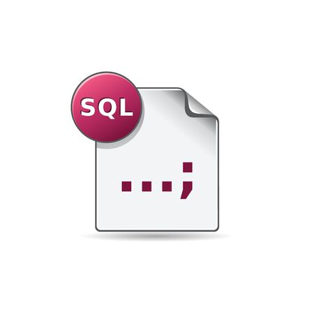 SQL File format icon in color. Extension database queries