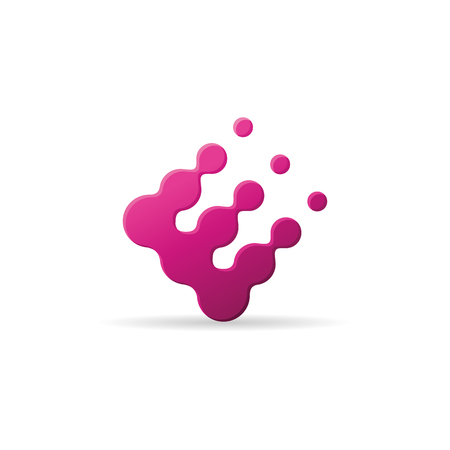Printing raster dots icon in color. Print color density concept Illustration