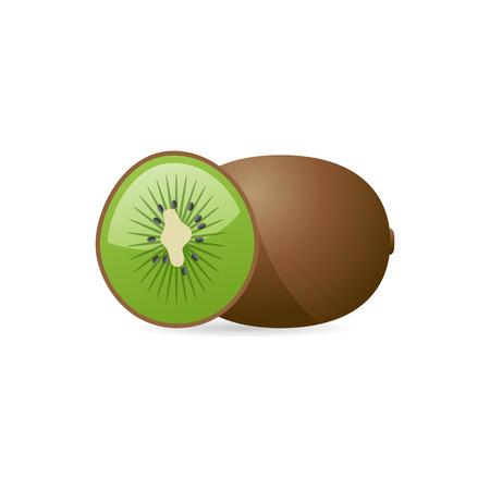 Kiwi fruit icon in color. Food healthy juicy