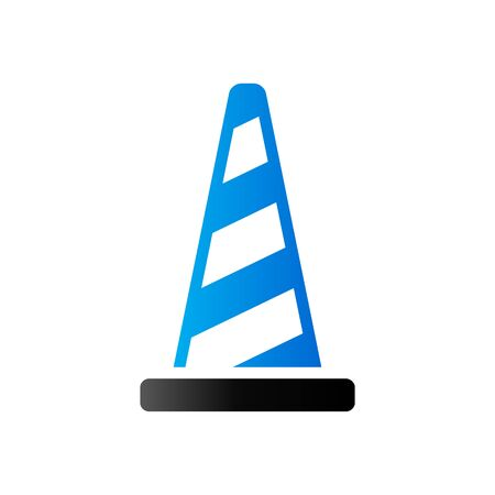 Traffic cone icon in duo tone color. Road construction warning