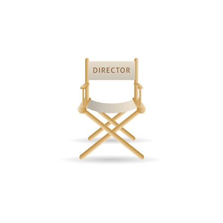 Movie director chair icon in color. Industry entertainment cinema