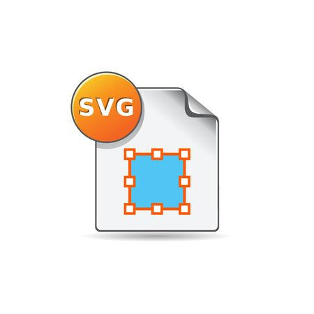 svg: SVG file icon in color. Computer software drawing scalable
