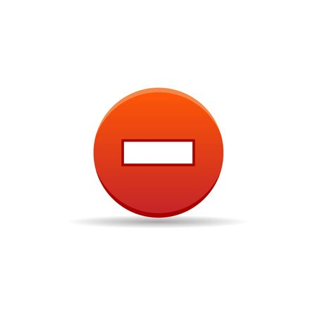 street symbols: Stop sign icon in color. Road warning restriction