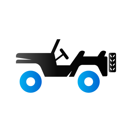 tone: Military vehicle icon in duo tone color. Offroad country road