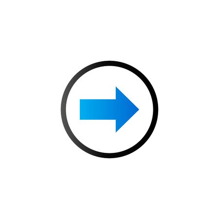 flecha direccion: Arrow icon in duo tone color. Direction shopping checkout Vectores