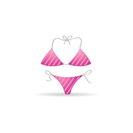 Bikini icon in color. Holiday beach swim suit