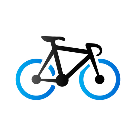 duo tone: Track bike icon in duo tone color. Bicycle racing road
