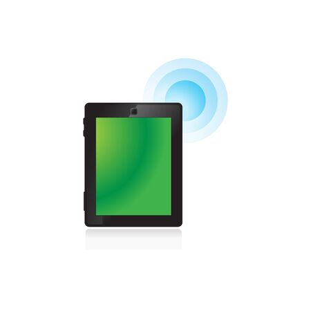 pad: Tablet icon in color. Buy now shopping sale Illustration