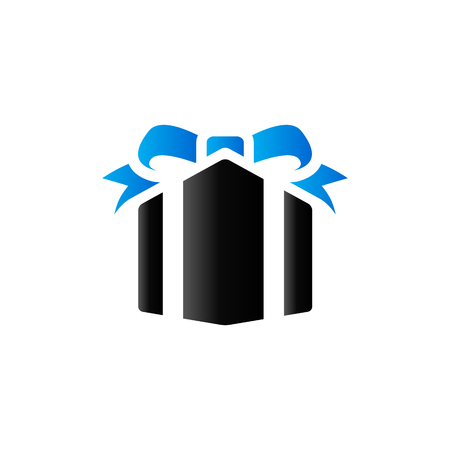 package: Gift box icon in duo tone color. Present birthday Christmas holiday Illustration