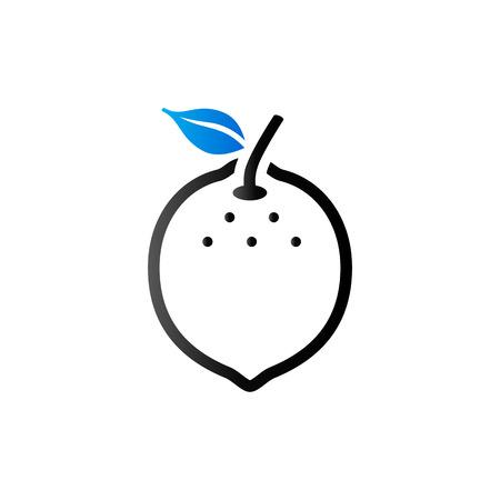 diet food: Lemon icon in duo tone color. Food fruit vitamin healthy diet