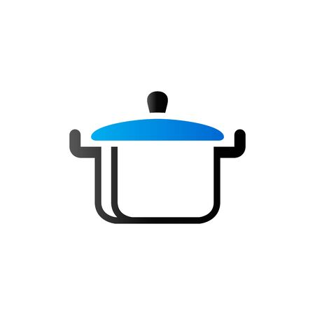 hot: Cooking pan icon in duo tone color. Food restaurant chef utensil Illustration