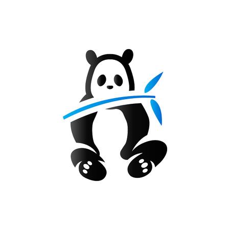デュオ トーン色のパンダ アイコン。哺乳類の中国の動物園  イラスト・ベクター素材