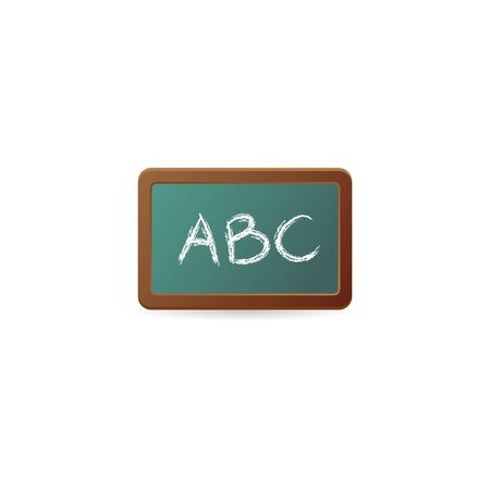 Blackboard icon in color. Education school college