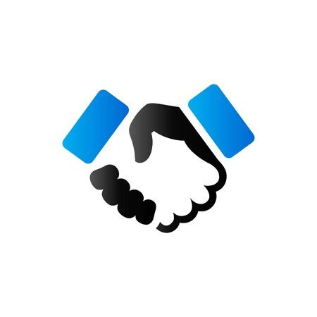 Handshake icon in duo tone color. Business people agreement
