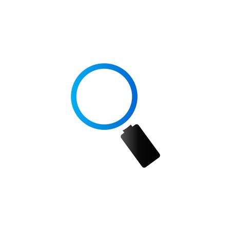 translucent: Magnifier icon in duo tone color. Zoom explore find locate Illustration