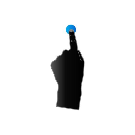 pc icon: Finger gesture icon in duo tone color. Gadget touch pad smartphone laptop Illustration