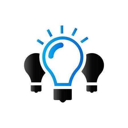 duo: Light bulb icon in duo tone color. Idea inspiration light