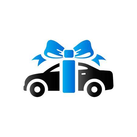 Car prize icon in duo tone color. Prize gift present Illustration