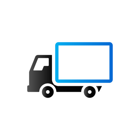 transport truck: Truck icon in duo tone color. Freight transport logistic