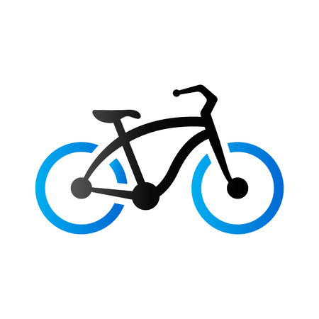 Low rider bicycle icon in duo tone color. Sport urban transportation