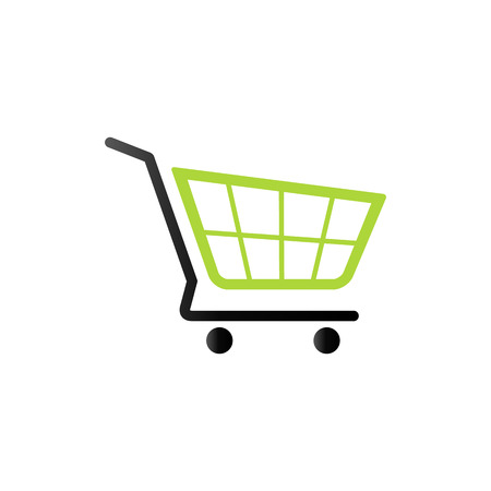 Shopping cart icon in duo tone color. Buying ecommerce