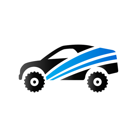 Rally car icon in duo tone color. Race championship competition Illustration