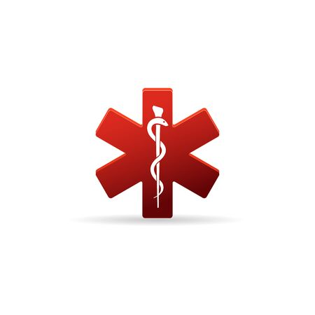 Medical symbol icon in color.