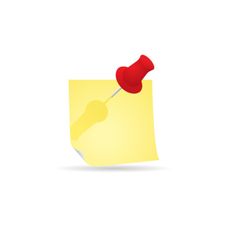 Sticky note icon in color. Reminder schedule message