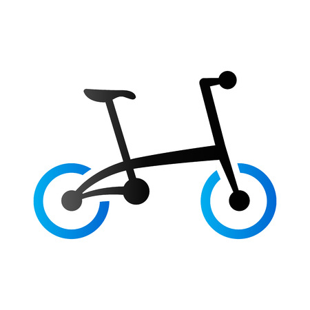 duo tone: Bicycle icon in duo tone color. Sport cycling folding Illustration