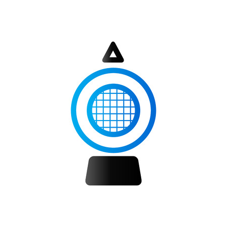 patch of light: Hazard light icon in duo tone color. Transportation road construction Illustration
