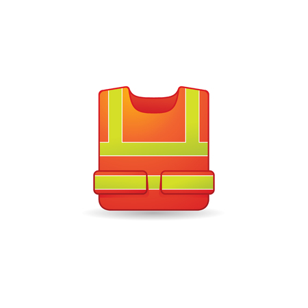 Safety vest icon in color. Construction wear safety