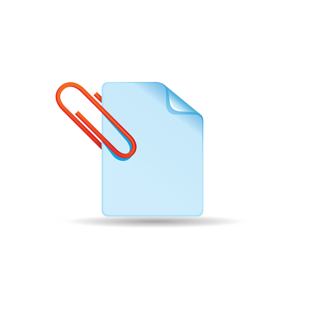 Attachment file icon in color. Internet communication email