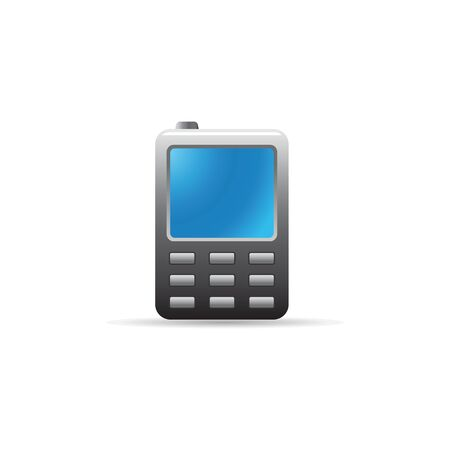 smartphone business: Cell phone icon in color. Vintage communication device Illustration
