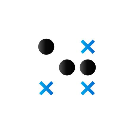 Strategy game icon in duo tone color. Playing planning tactic