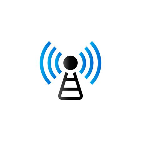 Podcast icon in duo tone color. Broadcast news