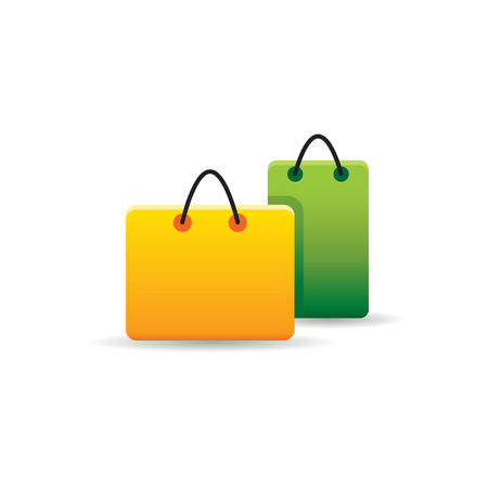 Shopping bags icon in color. Buying ecommerce