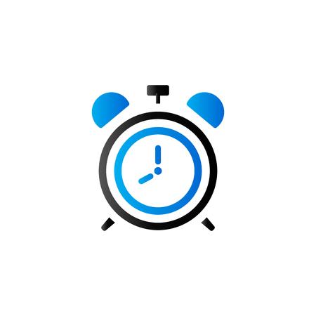 cronometro: Reloj icono en color de tono dúo. Tiempo de pared de alarma