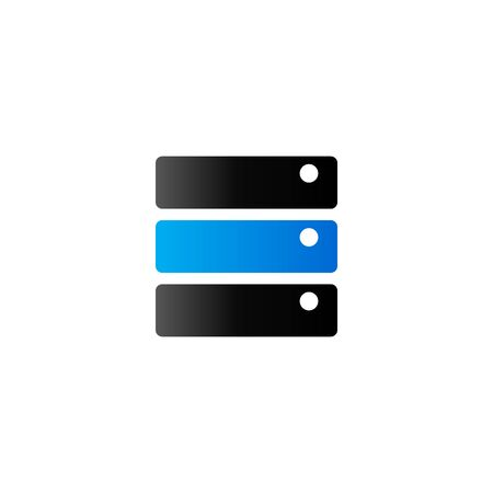 storage device: Database icon in duo tone color. Hard disk file server