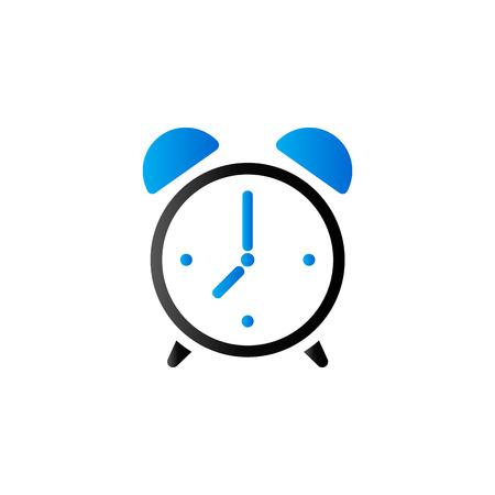 デュオ トーン色の時計アイコンです。朝の目覚めのアラーム  イラスト・ベクター素材