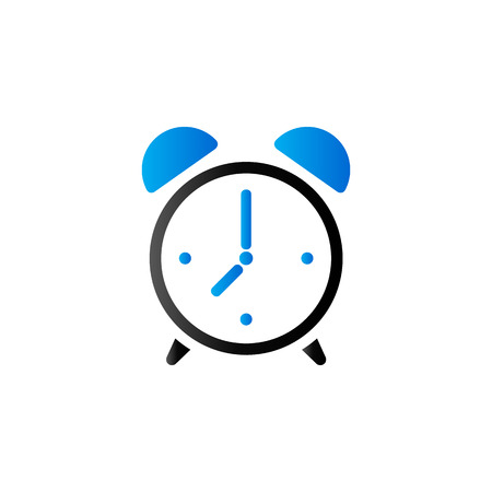 Clock icon in duo tone color. Alarm waking morning