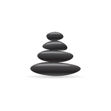 Stacked stone icon in color. Spa meditation wellness Illustration
