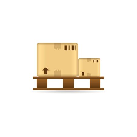warehouse: Logistic box icon in color. Delivery storage shipping Illustration