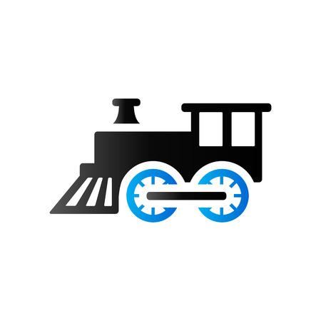 duo tone: Locomotive toy icon in duo tone color. Children games