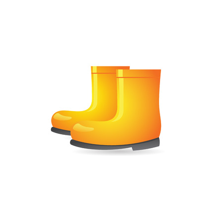 Wet boots icon in color. Rain season protection