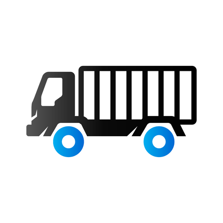 delivery truck: Truck icon in duo tone color. Freight transport logistic