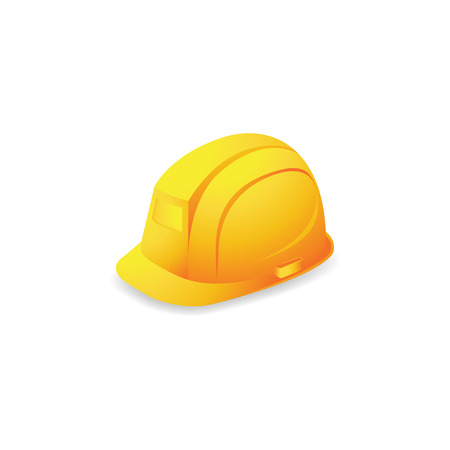 Hard hat icon in color. Construction head protection 矢量图像
