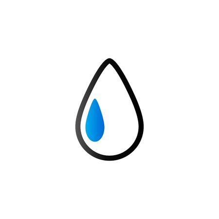 mildew: Water drop icon in duo tone color. Nature ecology environment
