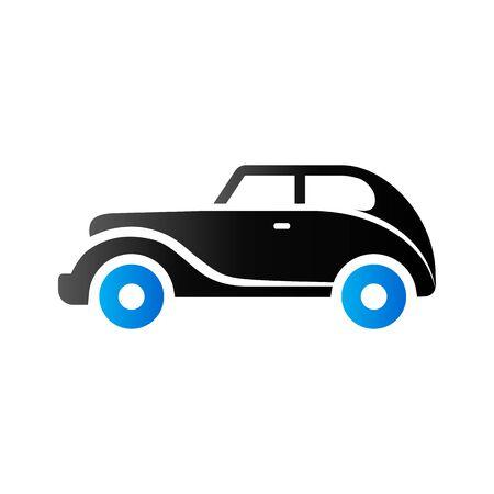 Vintage car icon in duo tone color. Retro automotive collector
