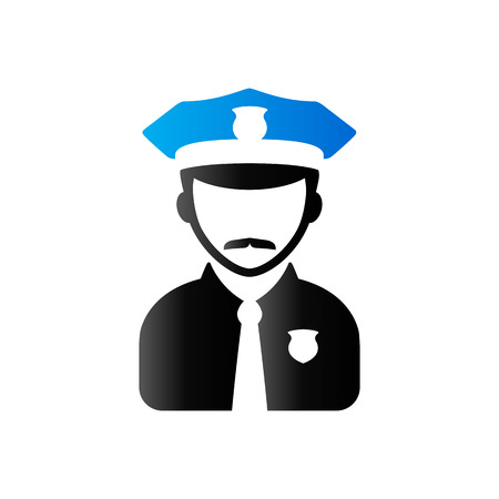 duo: Police avatar icon in duo tone color. People service security Illustration
