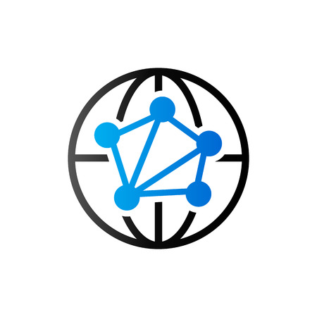 Network icon in duo tone color. Communication global business